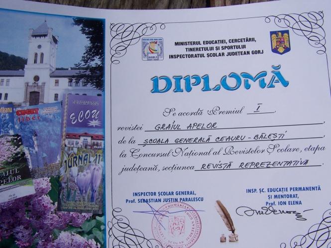 Primul loc în Gorj la Concursul Naţional al Revistelor Şcolare